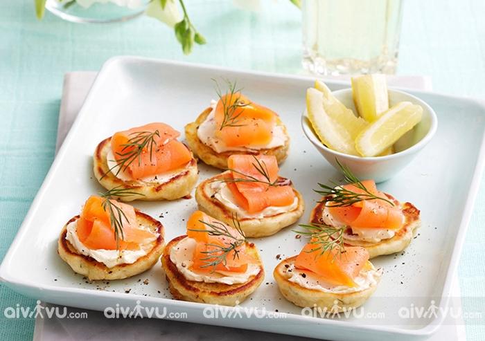 Bánh Blini – món ăn phổ biến trong lễ hội mừng năm mới ở Nga
