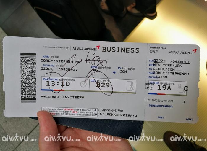Điều kiện đổi vé máy bay Asiana Airlines