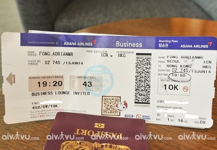 Hướng dẫn thủ tục đổi tên vé máy bay Asiana Airlines mới nhất