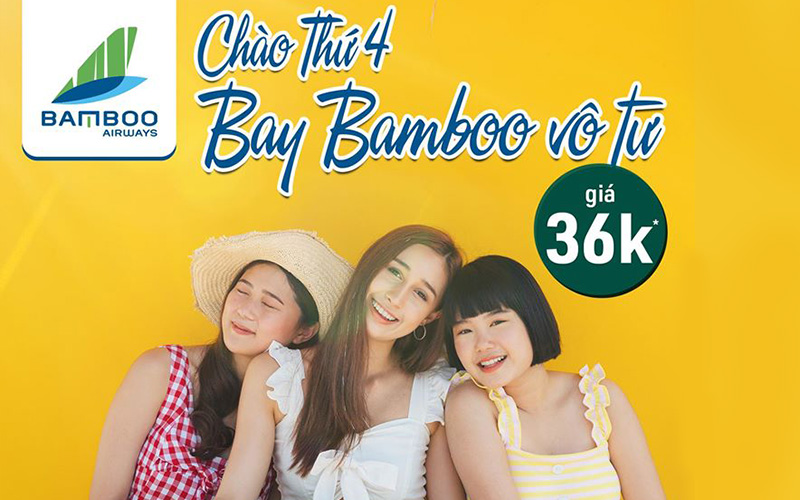 Khuyến mãi bay vô tư cùng Bamboo Airways chỉ với 36.000 VND