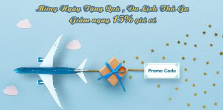 Mừng ngày tặng quà Vietnam Airlines khuyến mãi giảm 15% giá vé
