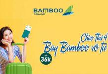 Bay vô tư cùng Bamboo Airways vé máy bay khuyến mãi chỉ 36.000 VND