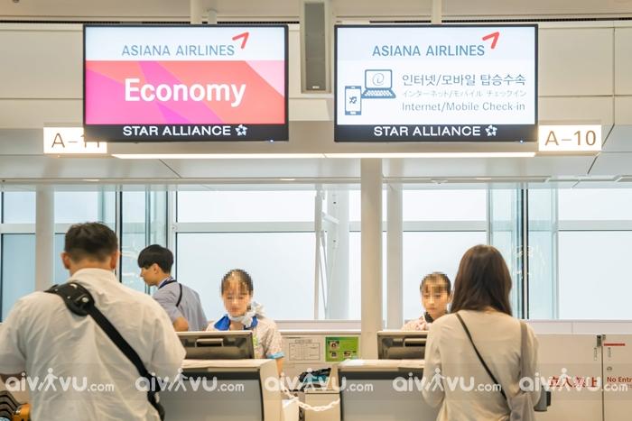 Thủ tục sân bay sau khi làm thủ tục check in Asiana Airlines