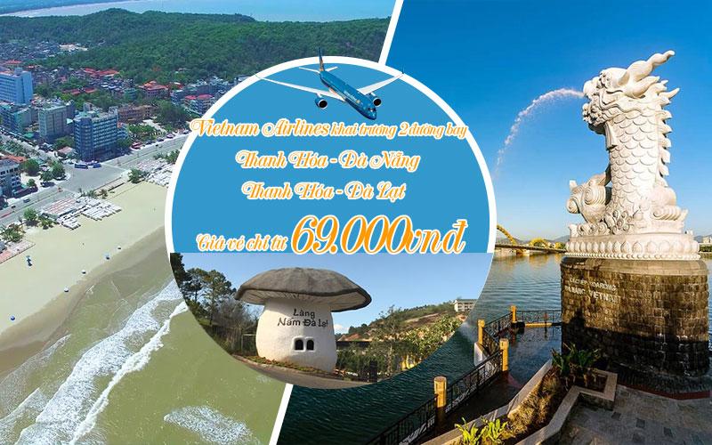 Vietnam Airlines khai trương 2 đường bay mới từ Thanh Hóa