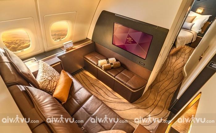 khoang hạng nhất sang trọng của Etihad Airways