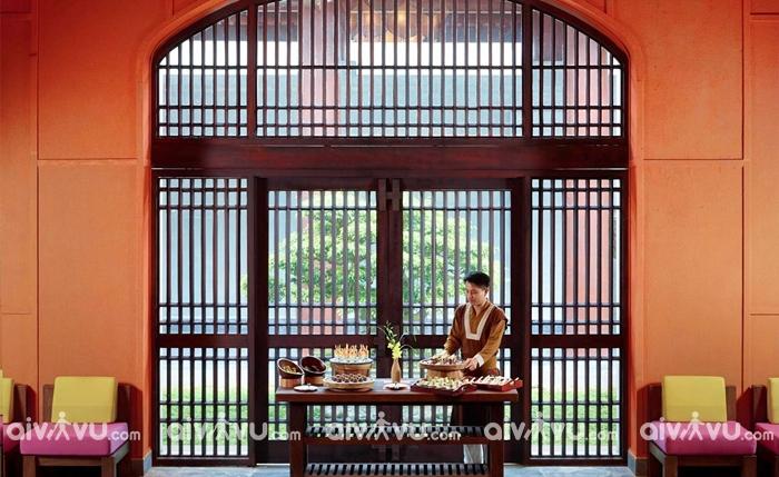 Miễn phí sử dụng bữa sáng tự chọn ẩm thực đặc sắc tại nhà hàng Thọ Quang