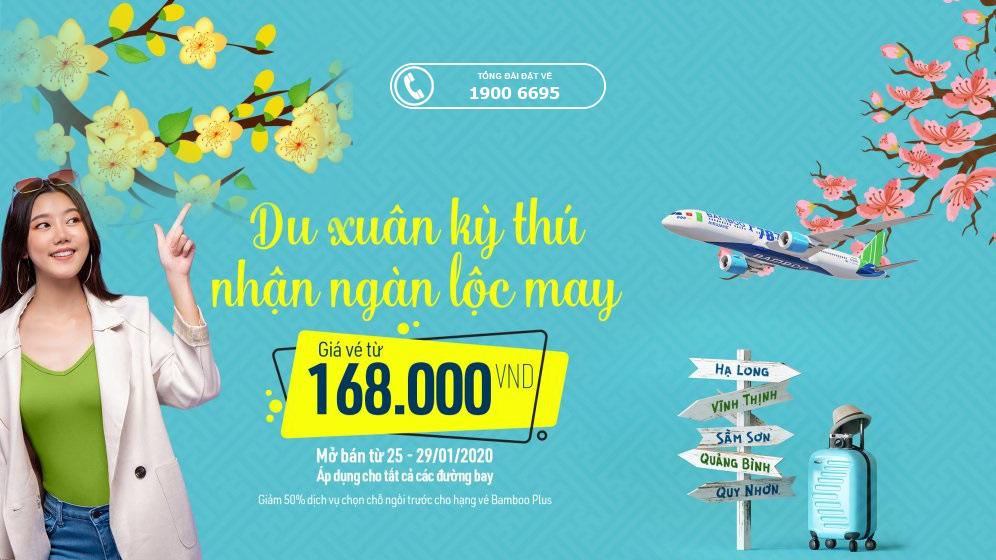 Giá vé máy bay Tết 2021 Bamboo Airways