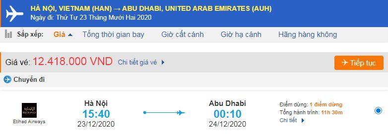 Vé máy bay đi xuất khẩu lao động Abu Dhabi