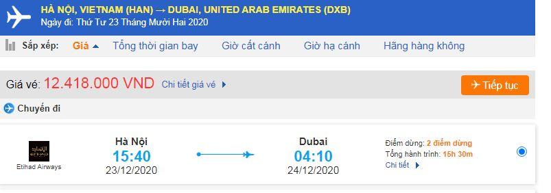 Giá vé máy bay đi xuất khẩu lao động Dubai