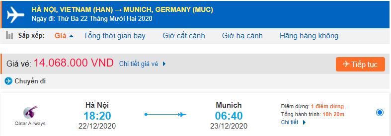 Vé máy bay Hà Nội đi Munich Đức Qatar Airways