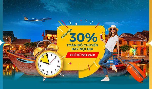 Khuyến mãi giảm 30% giá vé máy bay nội địa từ Vietnam Airlines