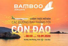 Bamboo Airways mở bán 3 đường bay thẳng đến Côn Đảo