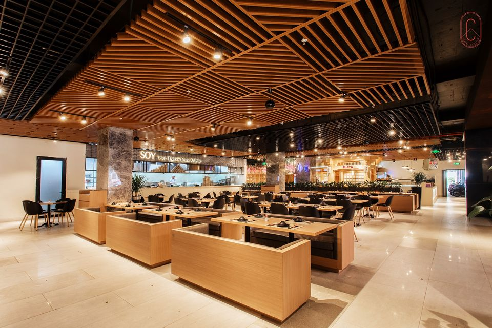 Khu ẩm thực bên trong Hôtel Colline