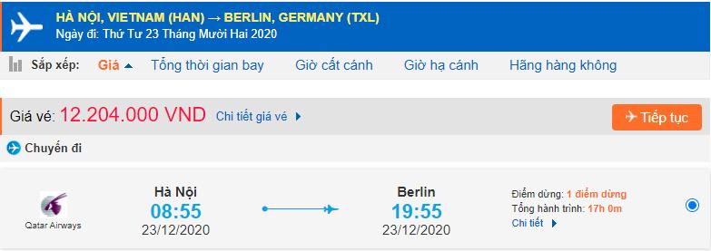 Vé máy bay Hà Nội đi Berlin Đức