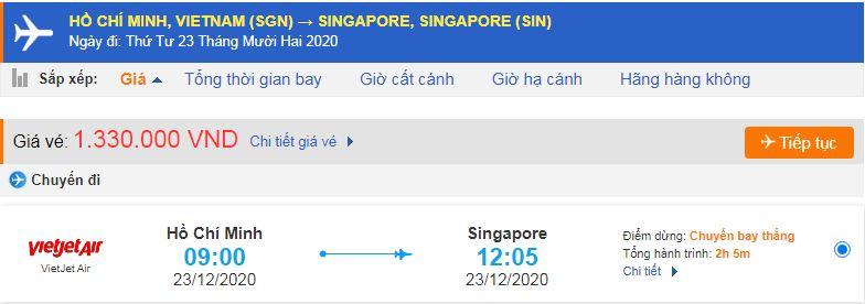 Vé máy bay đi xuất khẩu lao động Singapore từ Hồ Chí Minh