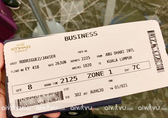 Điều kiện hoàn đổi vé máy bay Etihad Airways
