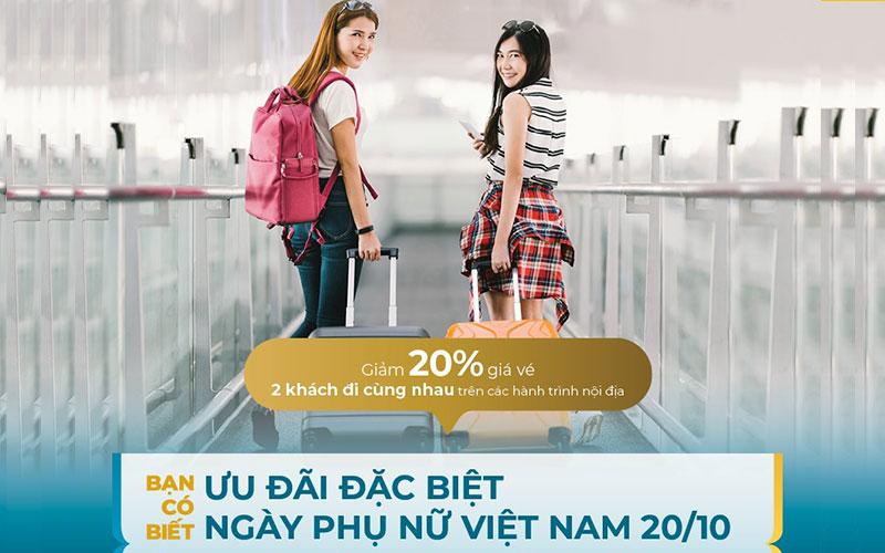 Vietnam Airlines khuyến mãi giảm 20% giá vé ngày phụ nữ Việt Nam