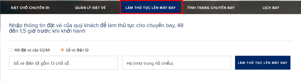Hướng dẫn check in online Singapore Airlines chi tiết nhất