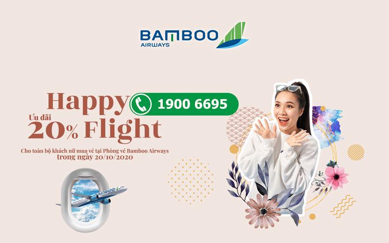 Bamboo Airways khuyến mãi giảm 20% giá vé mừng ngày 20/10