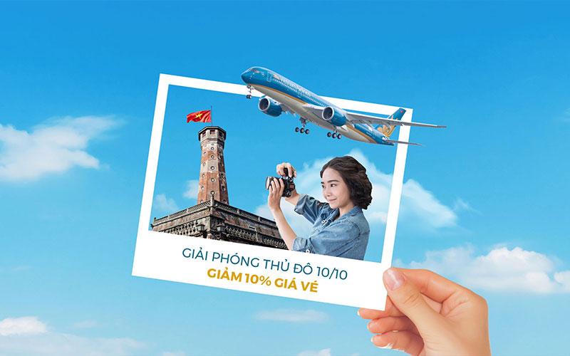 Vietnam Airlines khuyến mãi giải phóng thủ đô và đầu tháng giá tốt