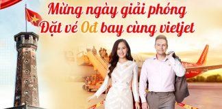 550.000 vé 0 đồng khuyến mãi từ Vietjet Air mừng giải phóng thủ đô