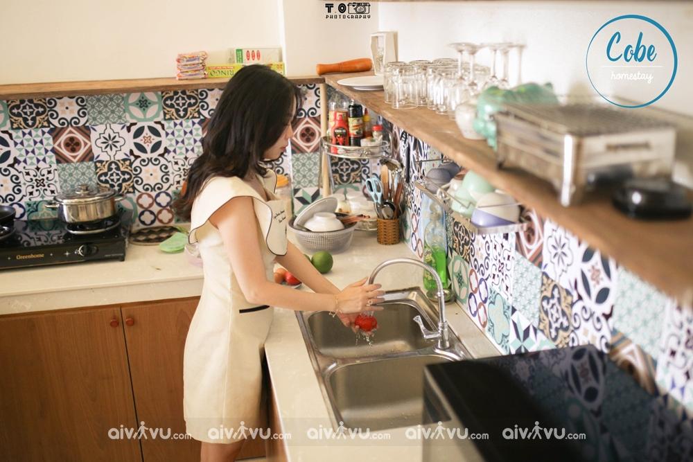 Phòng bếp tại Cobe Homestay