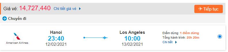 Vé máy bay đi Los Angeles từ Hà Nội