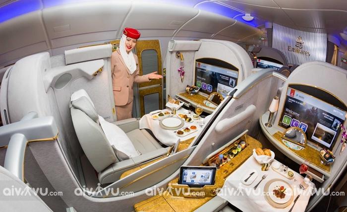 Các hạng ghế của hãng hàng không Emirates