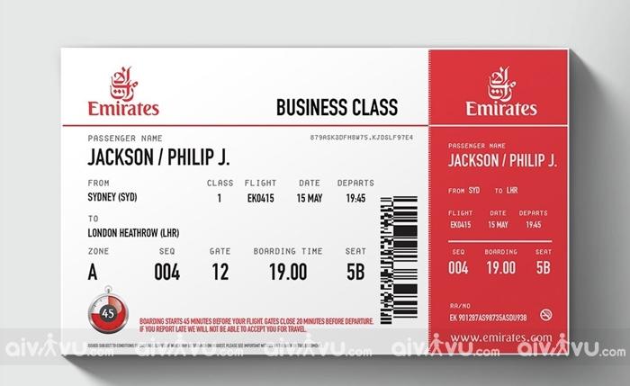 Giải đáp tên trên vé Emirates hiển thị không có khoảng trống