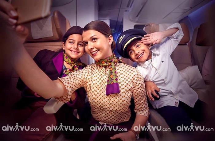Quy định trẻ em đi máy bay Etihad Airways