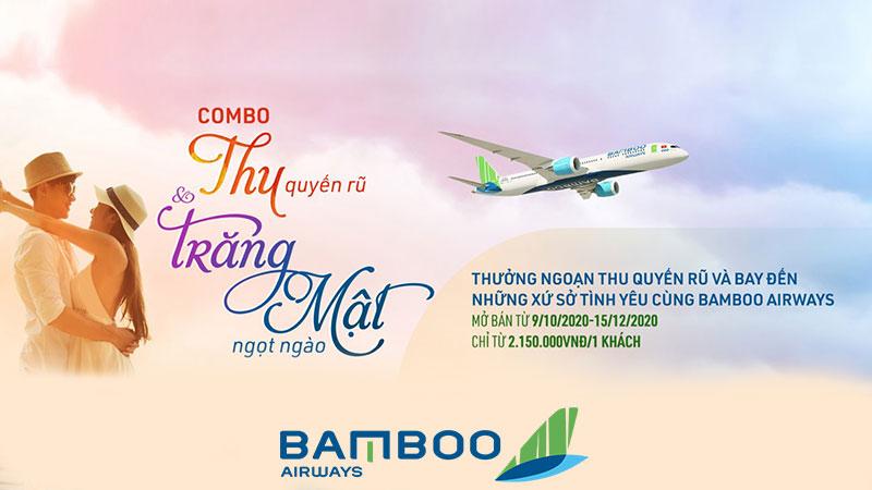 """Bamboo Airways khuyến mãi """" Thu quyến rũ"""" và trăng mật ngọt ngào"""