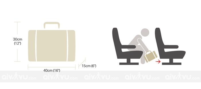 Quy định kích thước những vật dụng được phép mang lên máy bay