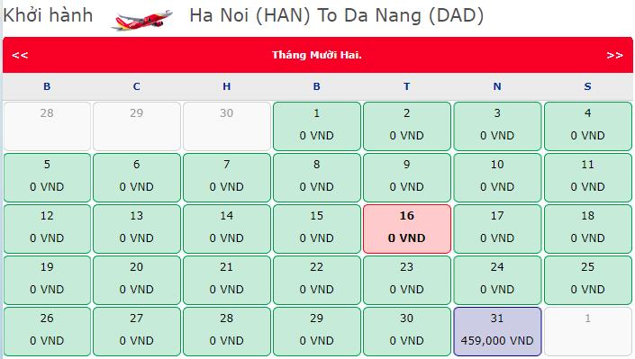 Vé máy bay 0 đồng Hà Nội đi Đà Nẵng