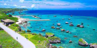 Bãi biển cát hình sao độc đáo ở Okinawa Nhật Bản
