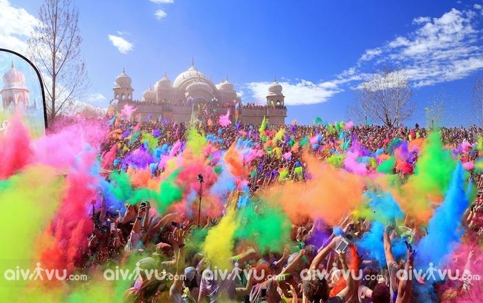 Lễ hội màu sắc Tết độc đáo của Ấn Độ