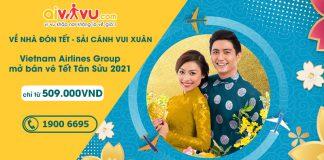 Vietnam Airlines mở bán vé Tết chỉ từ 509.000 VND sải cánh vui xuân