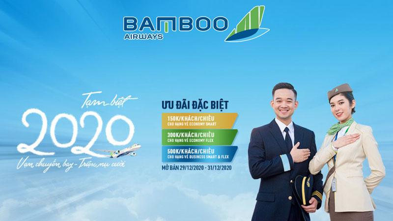 Bamboo Airways khuyến mãi tạm biệt năm 2020 chỉ từ 150.000 VND