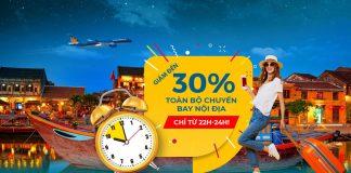 Khuyến mãi Mid – Night Sales giảm đến 30% giá vé từ Vietnam Airlines