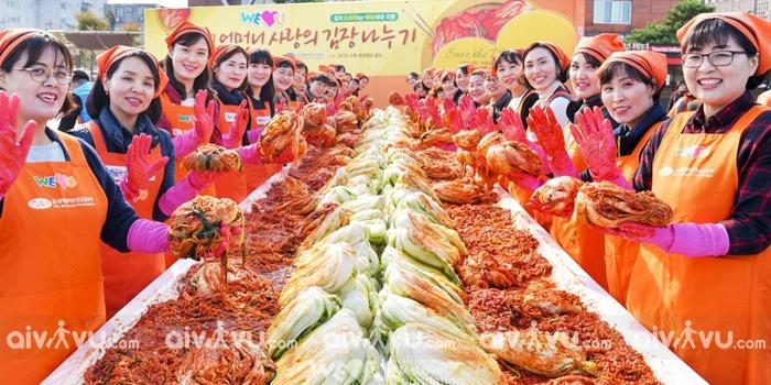 Lễ hội Kim chi Hàn Quốc sự kiện cuối năm được yêu thích