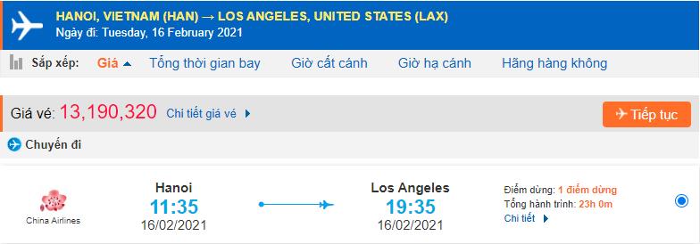 Giá vé máy bay đi Westminster từ Hà Nội China Airlines
