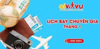 Cập nhật lịch bay quốc tế tháng 1/2021 về Việt Nam
