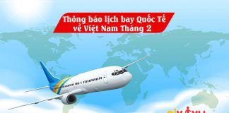 Lịch bay chuyên gia nước ngoài về Việt Nam tháng 2 /2021