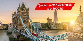 Vietnam Airlines mở bán vé máy bay từ London đến Hồ Chí Minh chỉ 800 USD