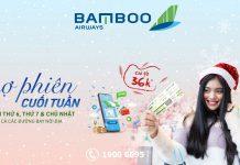 Chợ phiên cuối tuần khuyến mãi từ Bamboo Airways chỉ từ 36.000 VND