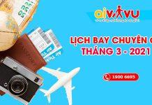 Lịch bay chuyên gia từ nước ngoài về Việt Nam tháng 3/2021