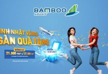 Khuyến mãi sinh nhật website đồng giá 21.000 VND Bamboo Airways