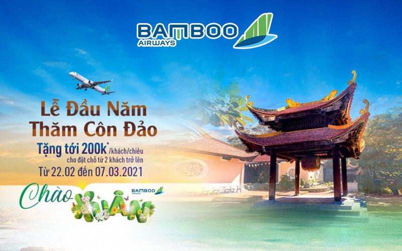 Bamboo Airways giảm tới 200.000 VND/khách/chiều khi đặt vé đi Côn Đảo