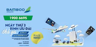 Khuyến mãi thứ 3 săn ưu đãi thả ga từ Bamboo Airways