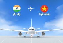 Vé máy bay từ Ấn Độ về Việt Nam giá rẻ