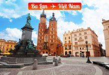 Vé máy bay từ Ba Lan về Việt Nam giá rẻ